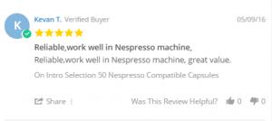 kevan T coffee pod review
