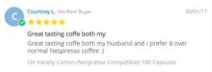 Courtney Coffee Pod Review