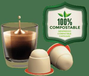 Compostable Biodegradable coffee capsules for Nespresso