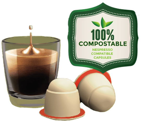 Compostable Biodegradable coffee capsules for Nespresso