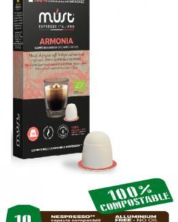 Armonia (Harmony) Blend biodegradable coffee pods