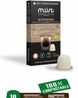 Supremo blend biodegradable coffee pods